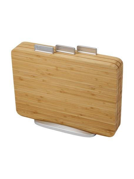 Schneidebretter Index Bamboo mit Halterung, 3 Stück, Halterung: Metall, verzinkt, Bambus, Zink, 35 x 30 cm