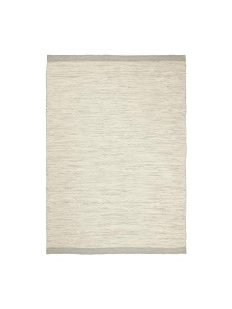 Handgewebter Wollteppich Asko in Creme/Hellgrau, meliert, Flor: 90% Wolle, 10% Baumwolle, Beige, B 170 x L 240 cm (Grösse M)