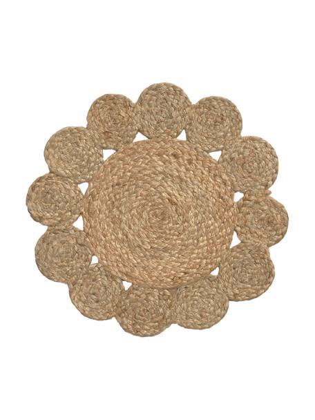Rundes Jute-Tischset Sevilla, 100% Jute, Beige, Ø 38 cm