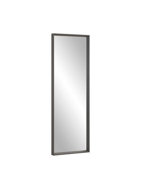 Specchio da parete con cornice in legno Nerina, Cornice: legno, Superficie dello specchio: lastra di vetro, Marrone, Larg. 52 x Alt. 152 cm