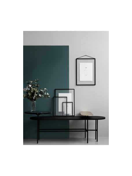 Fotolijst Frame, Frame: Aluminium, poedercoating, Frame: Zwart Ophanging: Zwart Voorkant en achterkant: Transparant, 17 x 23 cm