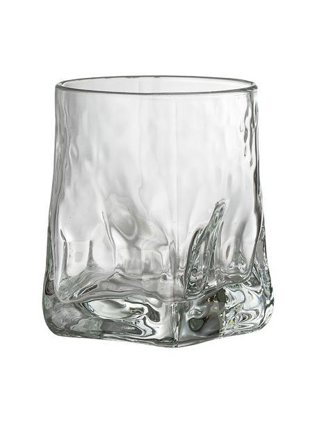 Waterglazen Zera met oneven vorm, 6 stuks, Glas, Transparant, Ø 8 x H 10 cm