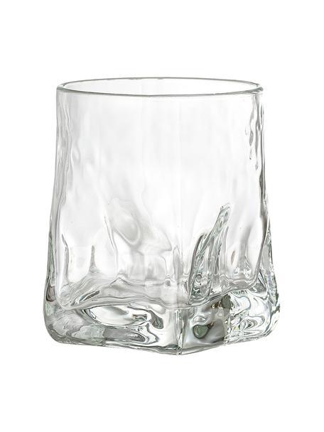 Wassergläser Zera mit unebener Form, 6 Stück, Glas, Transparent, Ø 8 x H 10 cm