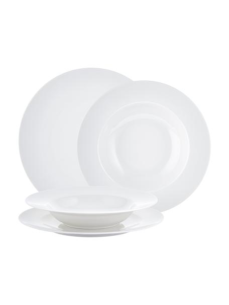 Komplet naczyń z porcelany For Me, 8 elem., Porcelana, Biały, Komplet z różnymi rozmiarami