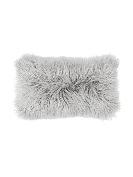Poszewka na poduszkę ze sztucznego futra Morten, Jasny szary, S 30 x D 50 cm