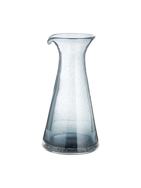 Mundgeblasene Karaffe Bubble mit dekorativen Luftbläschen, 800 ml, Glas, Transparent, Grau, H 25 cm