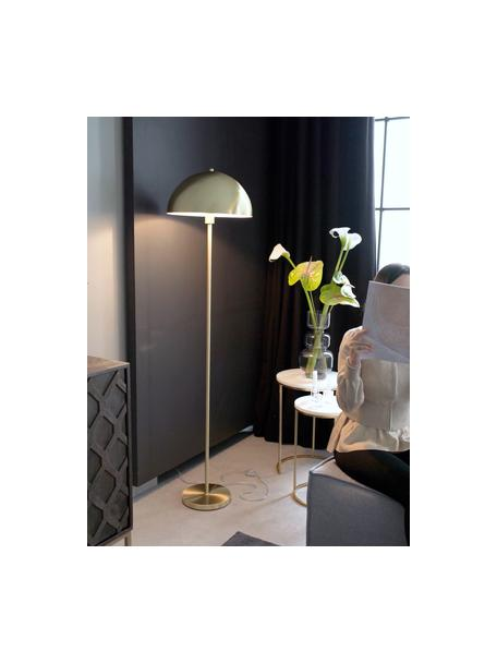Stehlampe Matilda in Gold, Lampenschirm: Metall, gebürstet, Lampenfuß: Metall, vermessingt, Messingfarben, Ø 40 x H 164 cm