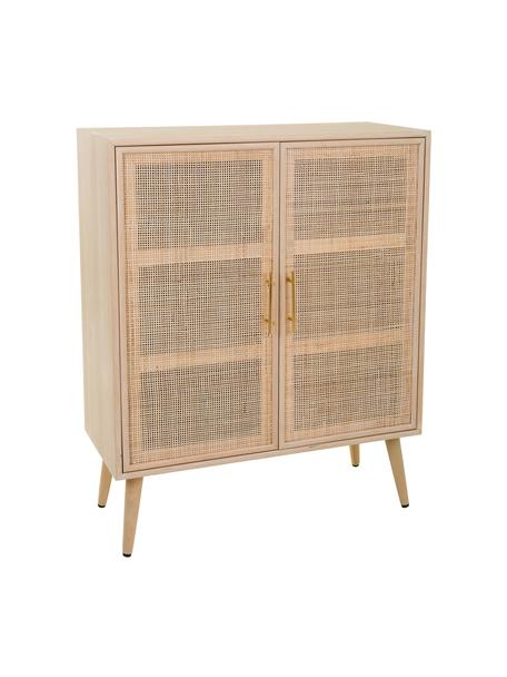 Chiffonier de madera Cayetana, Beige, An 80 x Al 101 cm