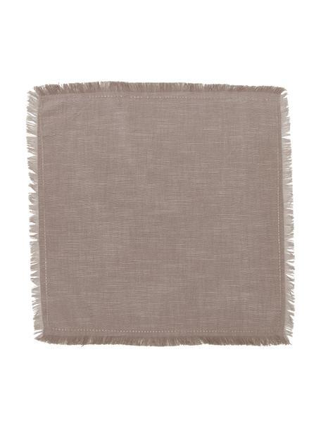 Serwetka z tkaniny Henley, 2 szt., 100% bawełna, Greige, S 45 x D 45 cm