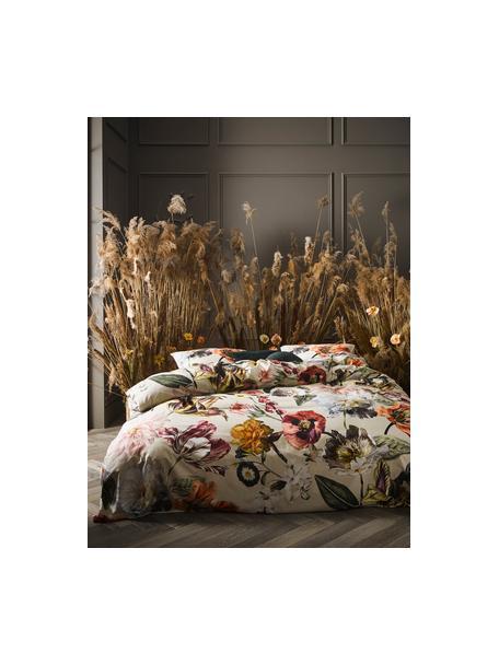 Dubbelzijdige katoensatijnen dekbedovertrek Filou, Weeftechniek: satijn, Zandkleurig, multicolour, 140 x 220 cm