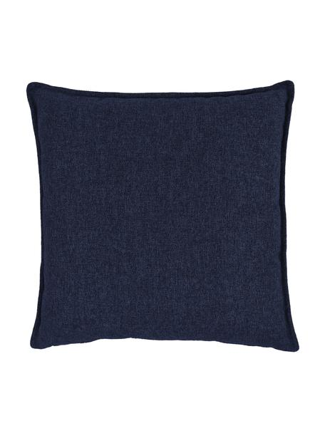 Sofa-Kissen Lennon in Dunkelblau, Bezug: 100% Polyester, Blau, 60 x 60 cm