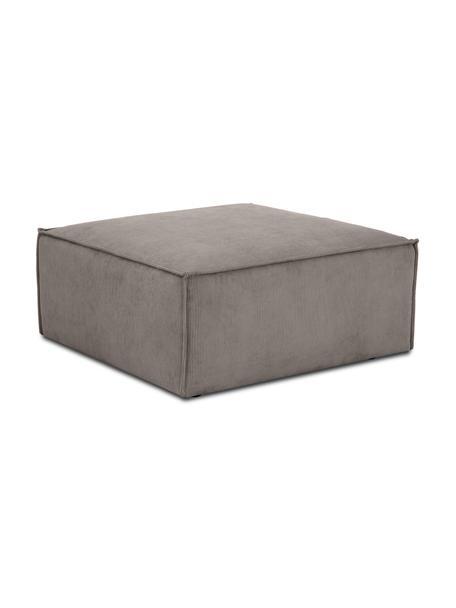Sofa-Hocker Lennon in Braun aus Cord, Bezug: Cord (92% Polyester, 8% P, Gestell: Massives Kiefernholz, Spe, Füße: Kunststoff Die Füße befin, Cord Braun, 88 x 43 cm
