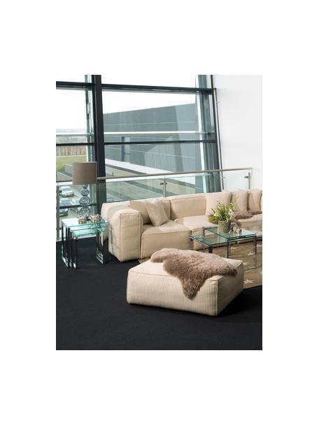 Set de mesas auxiliares Katrine, 3uds., tablero de cristal, Estructura: acero, cromado, Tablero: vidrio laminado, Cromo, transparente, Set de diferentes tamaños