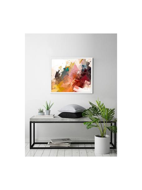 Oprawiony druk cyfrowy Abstract Colorful Oil Painting, Wielobarwny, S 63 x W 53 cm