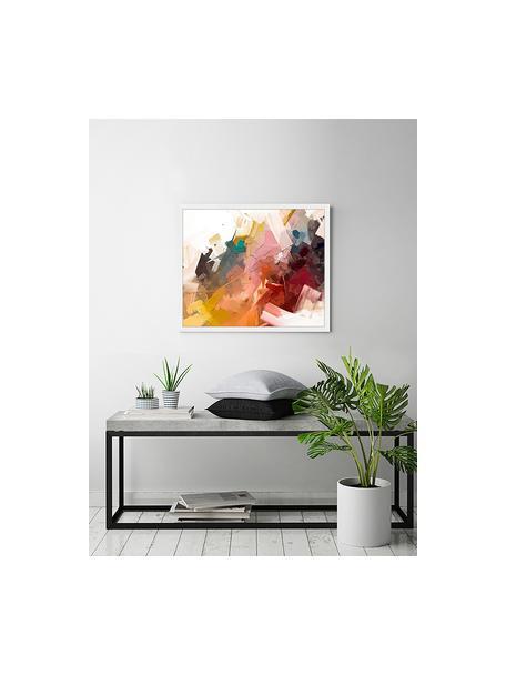 Stampa digitale incorniciata Abstract Colorful Oil Painting, Immagine: stampa digitale su carta,, Cornice: legno verniciato, Multicolore, Larg. 63 x Alt. 53 cm