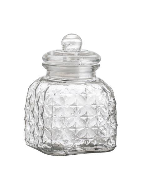 Glazen opbergpot Negan, verschillende formaten, Glas, siliconen, Transparant, 2.7 L