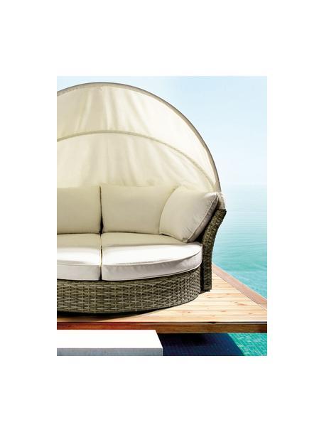 Sofá para exterior Lesly, ajustable, Estructura: aluminio con pintura en p, Beige, gris pardo verdoso, An 200 x Al 168 cm