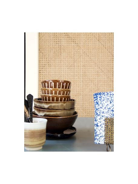 Tazza senza manico stile giapponese Yunomi 2 pz, Gres, Marrone, bianco, crema, Ø 8 x Alt. 9 cm