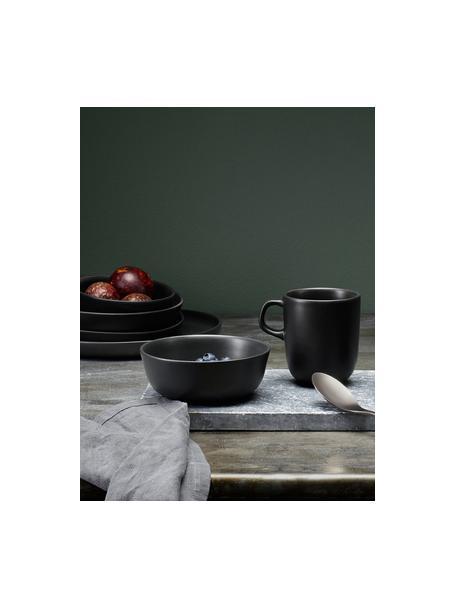 Schälchen Nordic Kitchen in Schwarz matt, 4 Stück, Steingut, Schwarz, matt, 400 ml