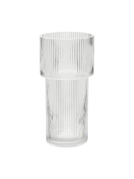 Jarrón de vidrio Lija, Vidrio, Transparente, Ø 14 x Al 30 cm