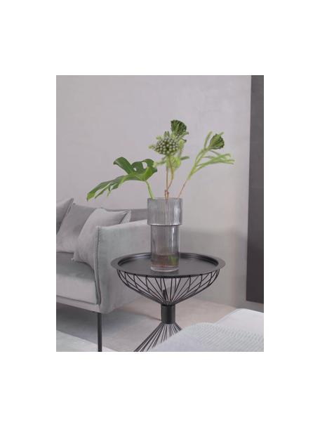 Vaso moderno in vetro Lija, Vetro, Trasparente, Ø 14 x Alt. 30 cm