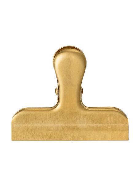 Morsetto Clips 2 pz, Acciaio inossidabile rivestito, Ottonato, Larg. 8 x Alt. 6 cm