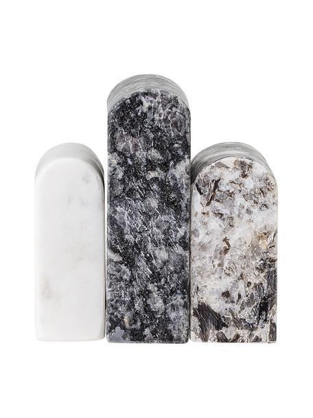 Decoratief object Cian van marmer, Gepolijst marmer, Zwart, wit, 9 x 9 cm