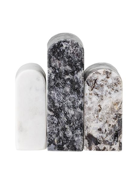 Deko-Objekt Cian aus Marmor, Marmor, Schwarz, Weiss, 9 x 9 cm
