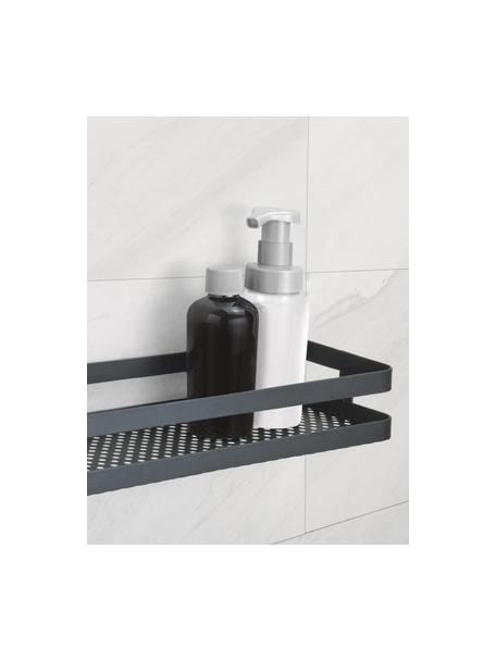 Estante de pared para el baño de metal Framework, Metal pintado, Negro, An 31 x F 11 cm