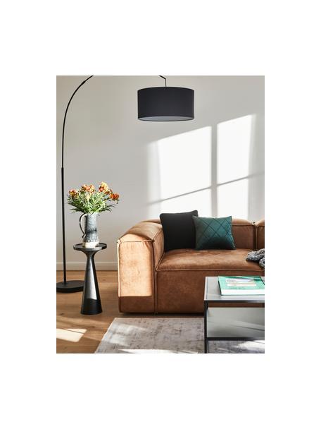 Mesa auxiliar Floss, estilo moderno, Aluminio, pintado en polvo, Negro mate, Ø 28 x Al 56 cm