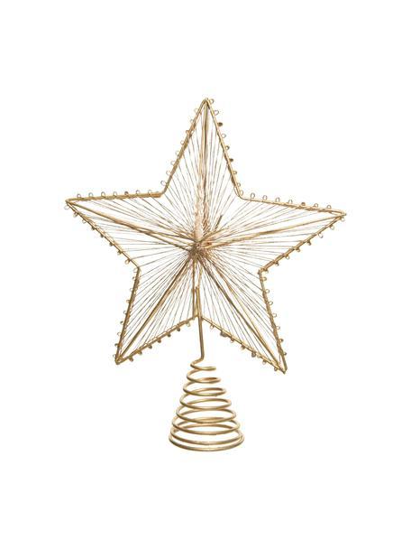 Weihnachtsbaumspitze Elise H 23 cm, Metall, Goldfarben, 20 x 23 cm
