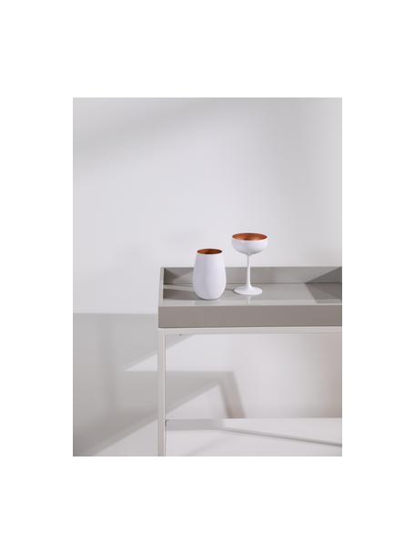 Szklanka do koktajli ze szkła kryształowego Elements, 6 szt., Szkło kryształowe, powlekane, Biały, odcienie brązowego, Ø 9 x W 12 cm