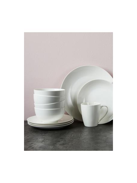 Set van 2 porseleinen kommen Delight Modern in wit, Porselein, Wit, Ø 14 x H 7 cm