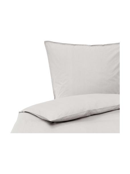 Pościel z bawełny z efektem sprania Arlene, Jasny szary, 135 x 200 cm + 1 poduszka 80 x 80 cm