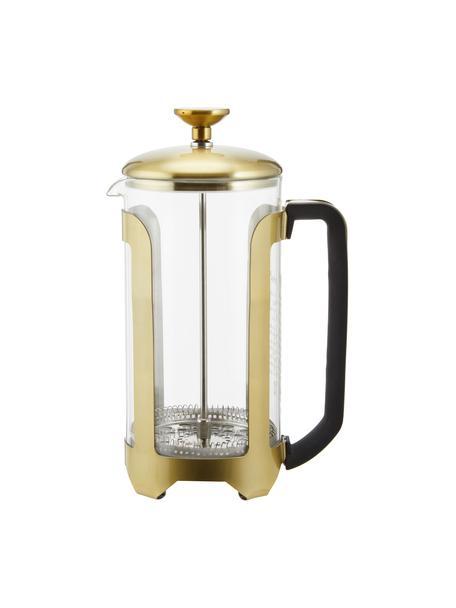 Zaparzacz do kawy Le'Xpress, Szkło borokrzemowe, metal powlekany, Transparentny, odcienie mosiądzu, 1 l