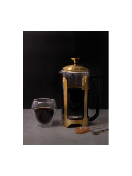 Caffettiera dorata/trasparente Le'Xpress, Vetro borosilicato, metallo, rivestito, Trasparente, ottonato, 1 l