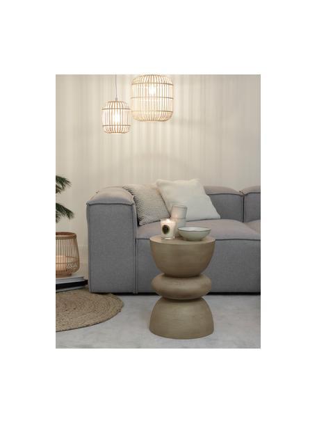Lámpara de techo pequeña de bambú Adam, Pantalla: bambú, madera, Anclaje: metal con pintura en polv, Estructura: metal con pintura en polv, Cable: plástico, Blanco, beige, Ø 21 x Al 24 cm