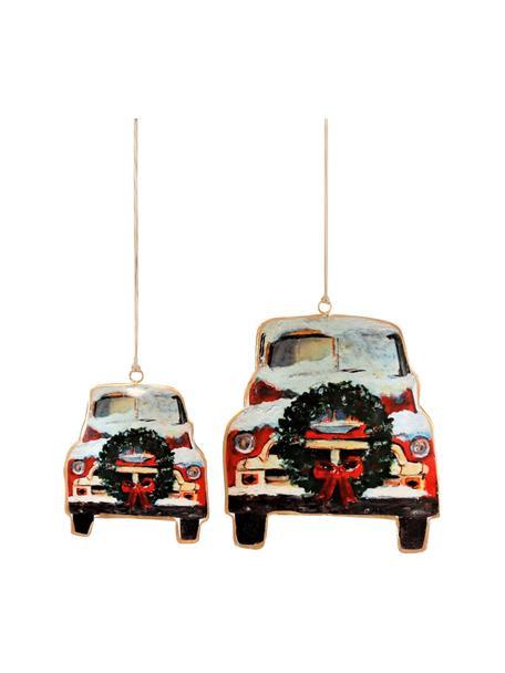 Baumanhänger-Set Cars, 2 Stück, Rot, Schwarz, Weiß, Sondergrößen