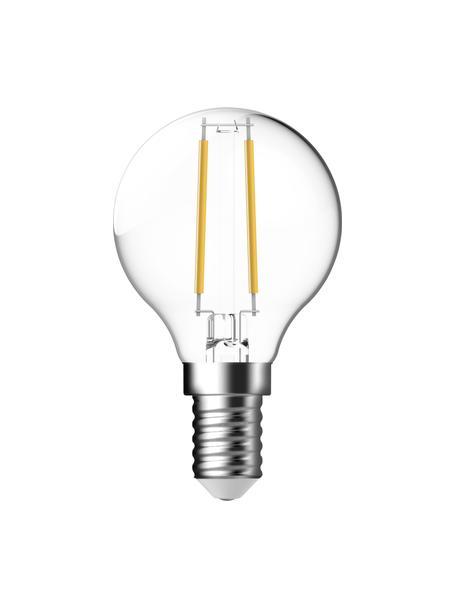Bombillas E14, 2.5W, blanco cálido, 2uds., Ampolla: vidrio, Casquillo: aluminio, Transparente, Ø 5 x Al 8 cm