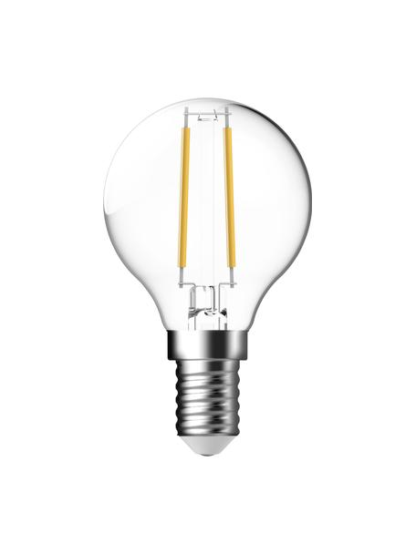 E14 peertje Lyra, 2.5 watt, warmwit, 2 stuks, Peertje: glas, Fitting: aluminium, Transparant, Ø 5 x H 8 cm