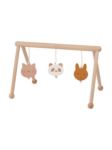 Giocatolo in legno Ernie, 100% legno di faggio, filo di cotone, Marrone chiaro, rosa, bianco, arancione, Larg. 72 x Prof. 40 cm