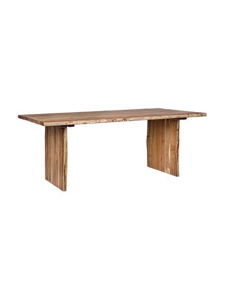 Mesa de madera de acacia Eneas, Madera de acacia con barniz de poliuretano, Acacia, An 200 x F 95 cm