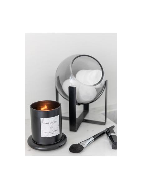 Vela perfumada con campana Simplicity (ámbar), Recipiente: vidrio, Negro, Ø 11 x Al 14 cm