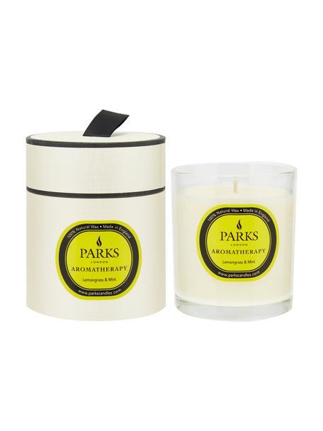 Duftkerze Aromatherapy (Zitronengras & Minze), Behälter: Glas, Weiß, Ø 8 x H 9 cm