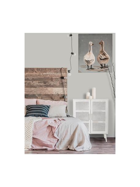 Chiffonnier de madera Cayetana, Estructura: tablero de fibras de dens, Patas: madera de bambú pintada, Blanco, An 80 x Al 101 cm