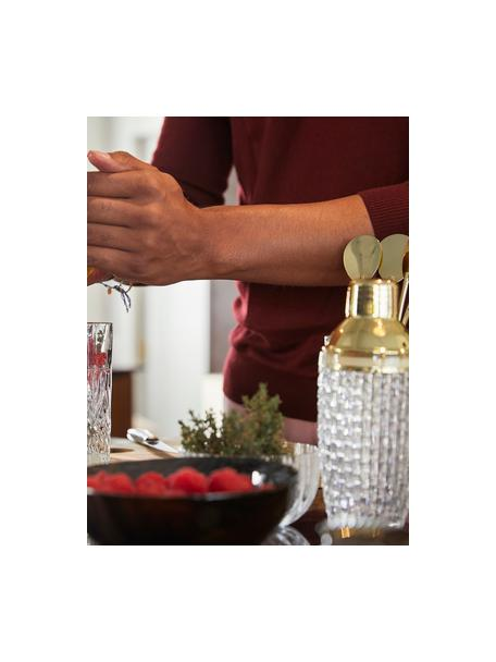 Cocktail-Shaker Jolin in Transparent/Gold, Shaker: Glas, Verschluss: Edelstahl, Transparent, Goldfarben, Ø 8 x H 20 cm