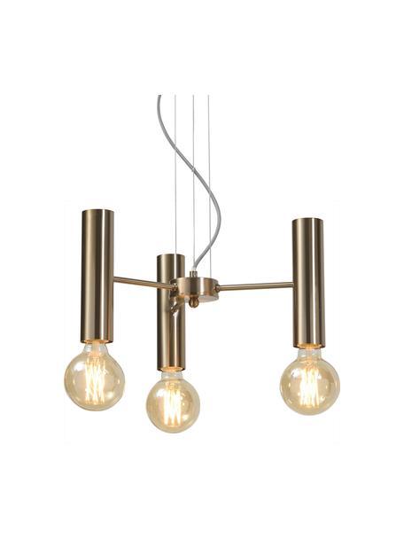 Lámpara de techo Cannes, Anclaje: metal, Cable: cubierto en tela, Dorado, Ø 40 x Al 20 cm