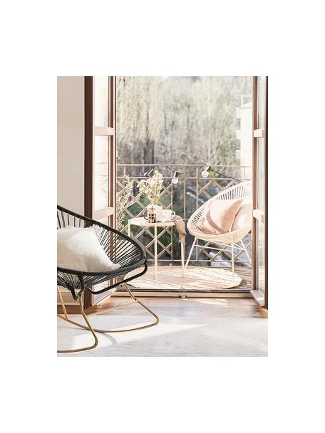 Loungefauteuil Bahia uit kunstvlechtwerk, Zitvlak: kunststof, Frame: gepoedercoat metaal, Wit, B 81 x D 73 cm