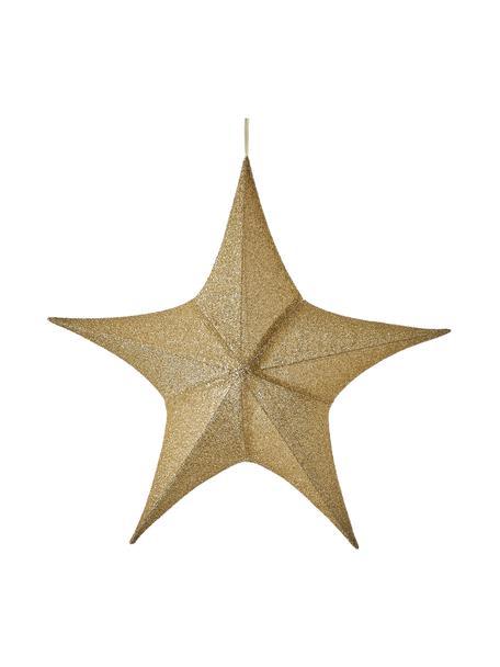 Deko-Stern Kamilla H 80 cm, Bezug: Polyester, Gestell: Metall, Goldfarben, 80 x 76 cm