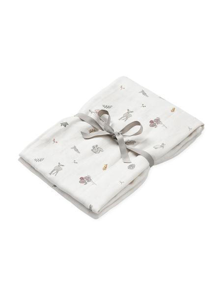 Manta bebé de algodón ecológico Fawn, 100%algodón ecológico, Blanco, marrón, beige, amarillo, rosa, verde, An 120 x L 120 cm